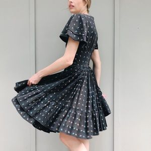 [Vintage] Handmade Floral Fit and Flare Dress